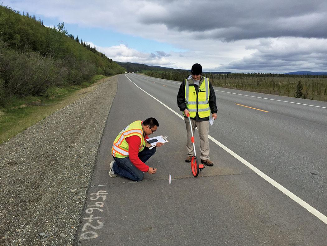 experimentally precut roadway