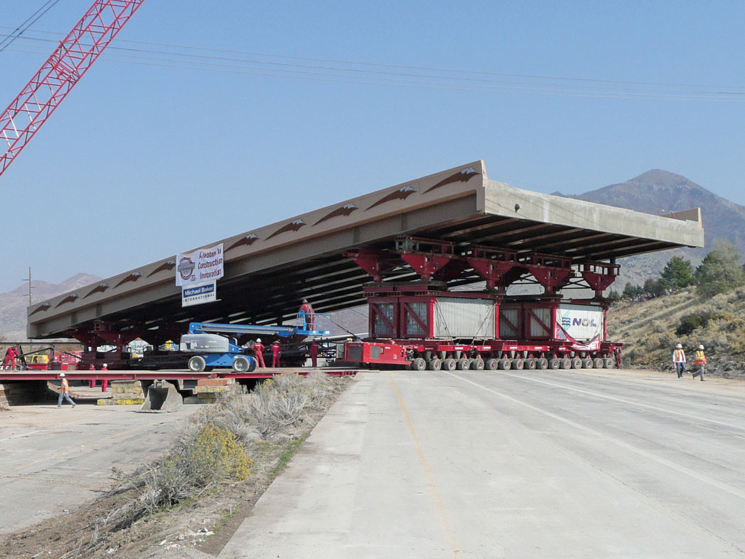 I-215 Salt Lake City SPMT move