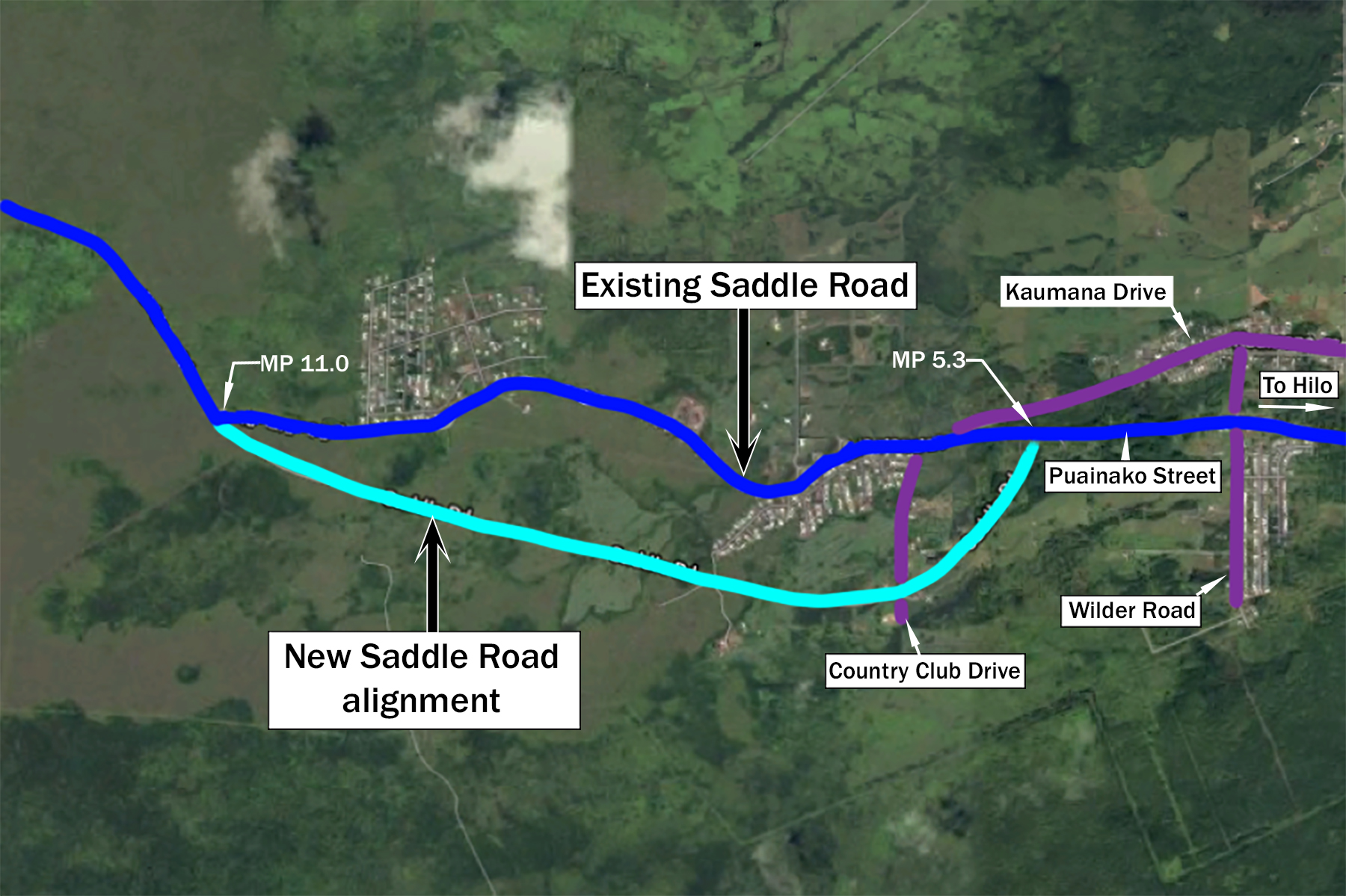 Saddle Road realignment