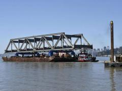 Old Bay Bridge demolition between San Francisco and Oakland