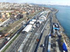 The mega project allows automobiles transit access between the Asian and European sides of Istanbul under the Bosporus strait and will ease Istanbul's notoriously heavy traffic