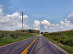 Indiana rural road by Tysto