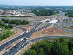 I-66/Rte. 15 diverging diamond interchange in northern Virignia