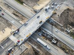 A Michigan bridge that went from four months to just four days in construction time.