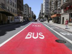 Federal Highway Administration approval to spur more red transit-only lanes in San Francisco