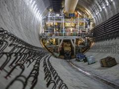 The tunnel machine has stopped for measurements and maintenance until early next week, when operators might need to correct the path