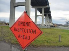 Drone Inspection sign