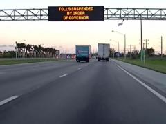 Florida tolling suspended
