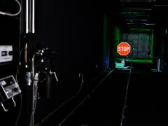 The Visibility Research Laboratory is used to test materials for traffic signs and pavement markings