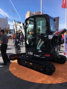 The new Bobcat R Series E35 compact excavator