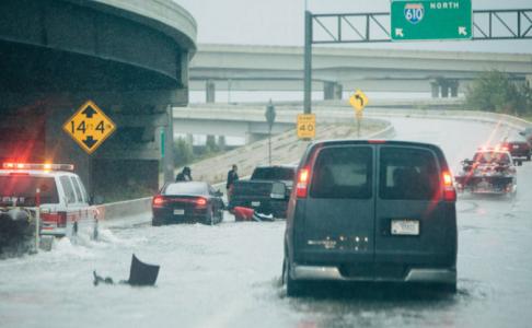 I-610 in Houston post-Hurricane Harvey