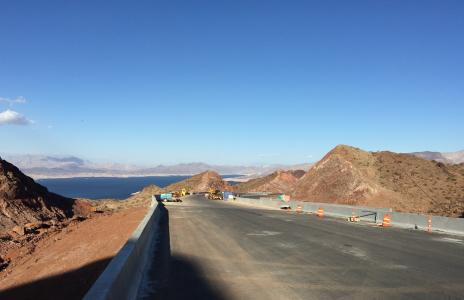 Road construction on the first phase of I-11 in Boulder City, Nev.