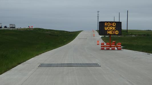 TxDOT end-of-queue warning system