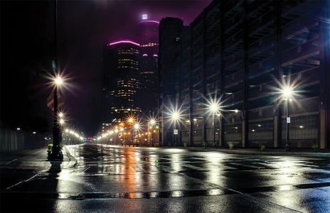 Detroit street lights