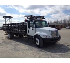 International 4300 model chassis, NCHRP 350 TL-3 rated TMA trucks
